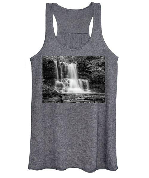 Black And White Photo Of Sheldon Reynolds Waterfalls Women's Tank Top