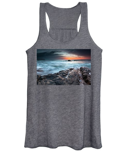 Black Sea Rocks Women's Tank Top