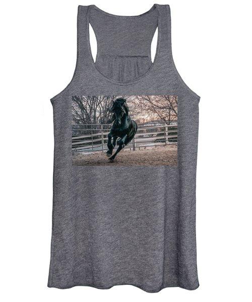 Black Stallion Cantering Women's Tank Top