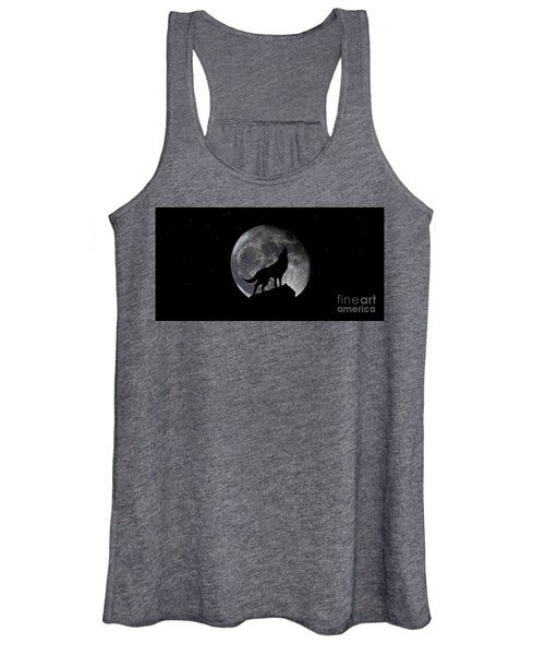 Pre Blood Red Wolf Supermoon Eclipse 873r Women's Tank Top