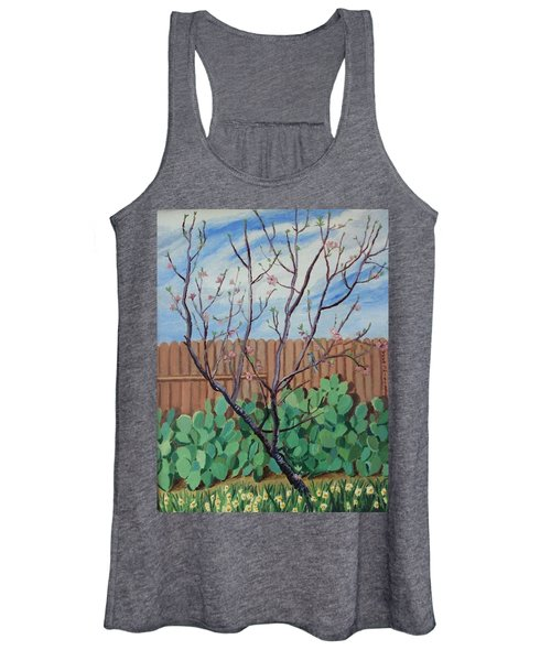 Blooming Peach In Our San Antonio Backyard Women's Tank Top