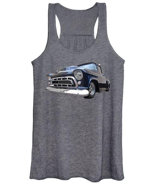 Blue 57 Stepside Chevy Women's Tank Top