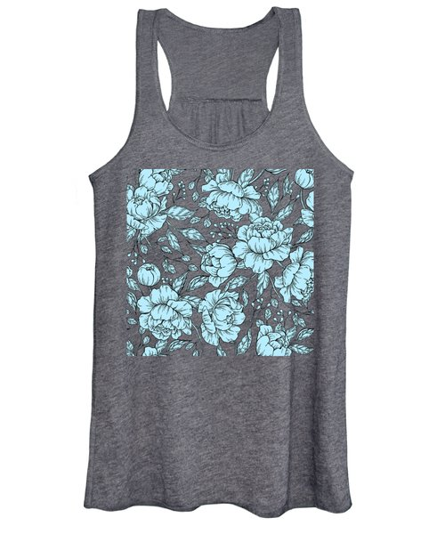 Blue Peonies Women's Tank Top