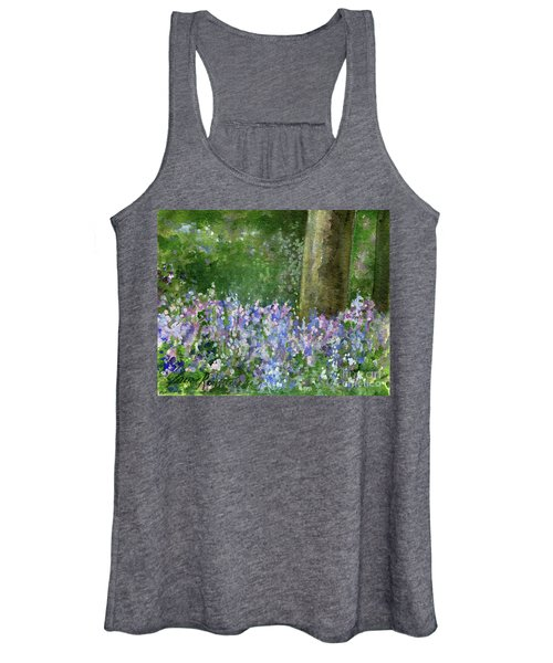 Bluebells Under The Trees Women's Tank Top