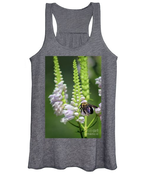 Bumblebee On Obedient Flower Women's Tank Top