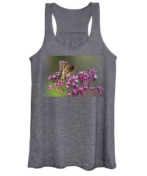 Butterfly On Wild Flowers Women's Tank Top