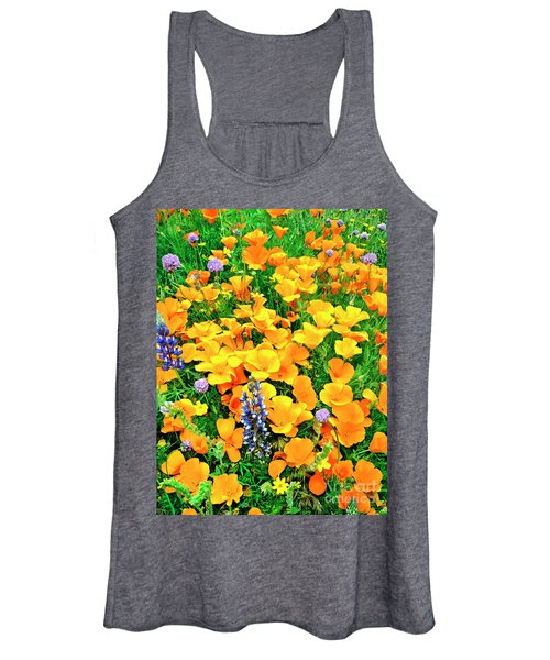 California Poppies And Betham Lupines Southern California Women's Tank Top