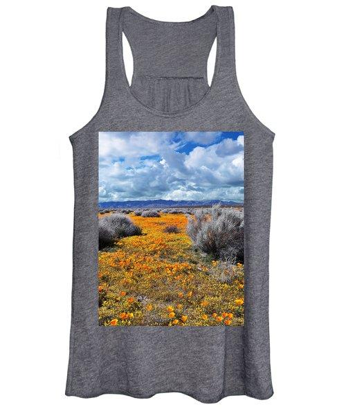 California Poppy Patch Women's Tank Top