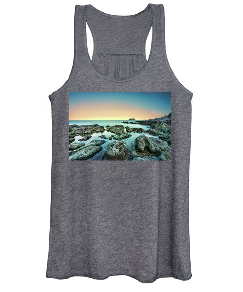Calm Rocky Coast In Greece Women's Tank Top