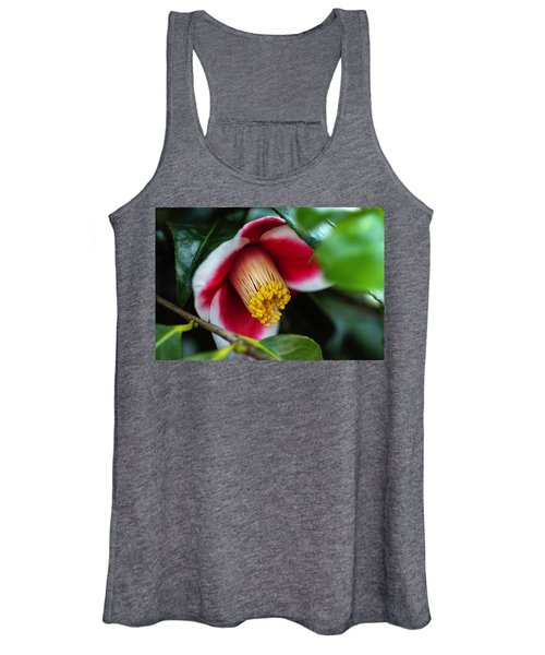 Camellia Bloom And Leaves Women's Tank Top