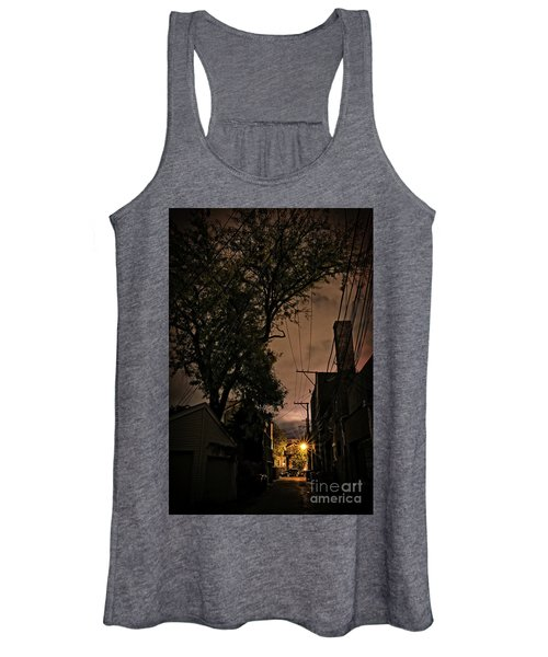 Chicago Alley At Night Women's Tank Top