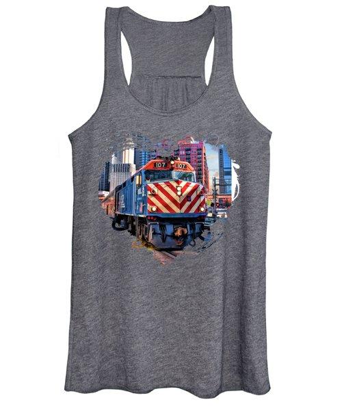 Chicago Metra Train Downtown Women's Tank Top