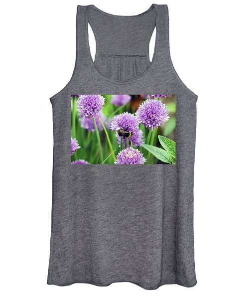 Chorley. Picnic In The Park. Bee In The Chives. Women's Tank Top