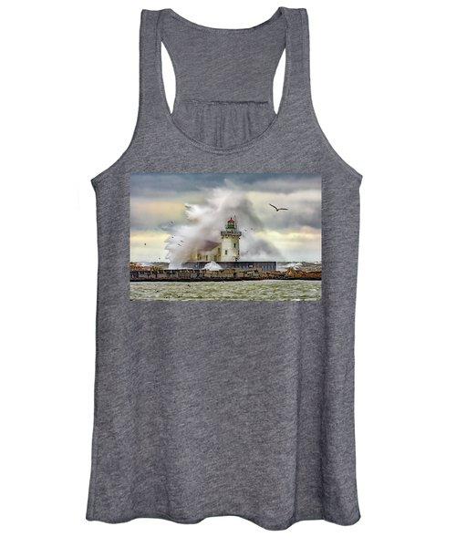 Cleveland Lighthouse Storm  Women's Tank Top