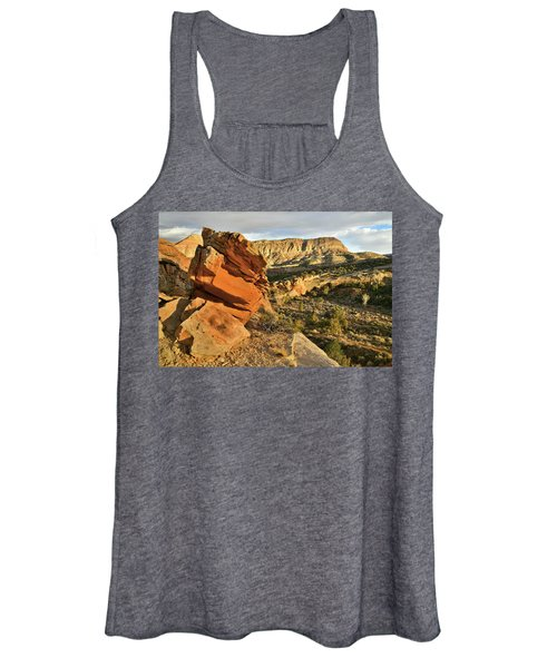 Cliffside Rock Cropping In Colorado National Monument Women's Tank Top