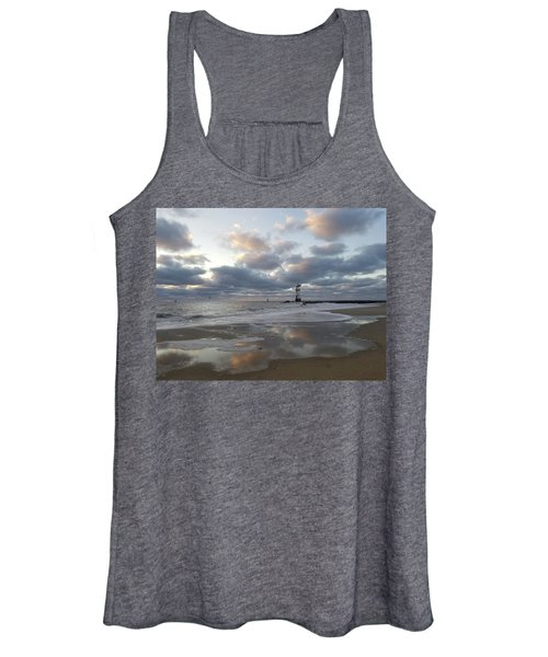 Cloud's Reflections At The Inlet Women's Tank Top