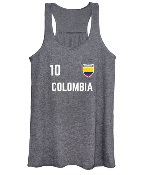 Colombia Soccer Jersey 2019 Colombian Football Team Shirt Women's Tank Top