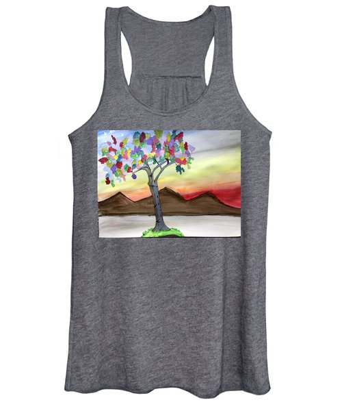 Colored Tree Women's Tank Top