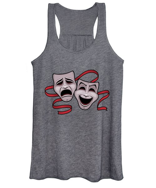 Comedy And Tragedy Theater Masks Women's Tank Top