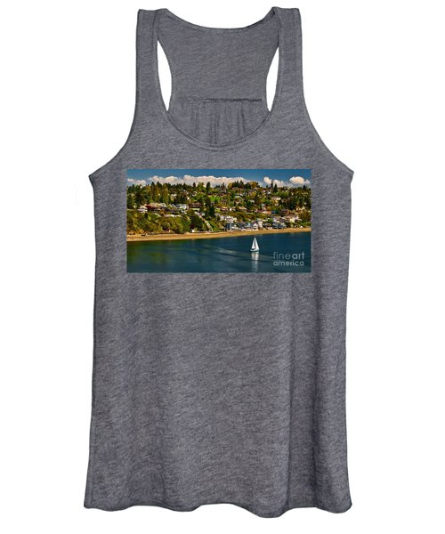 Commencement Bay,washington State Women's Tank Top