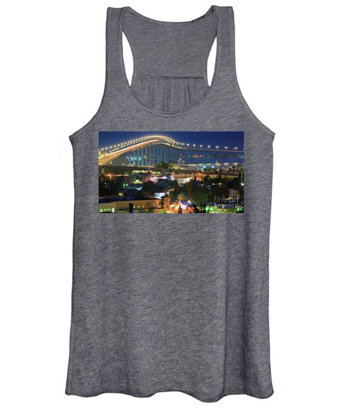 Coronado Bay Bridge Shines Brightly As An Iconic San Diego Landmark Women's Tank Top
