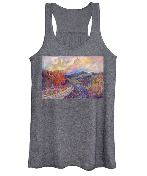 Country Road In The Autumn Forest Women's Tank Top