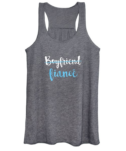 Couple Engagement Just Engaged T-shirt Boyfriend Fiance Women's Tank Top