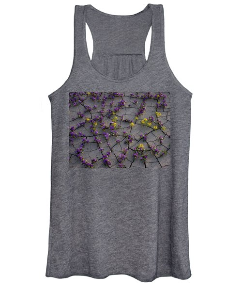 Cracked Blossoms II Women's Tank Top