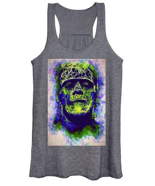 Frankenstein Watercolor Women's Tank Top