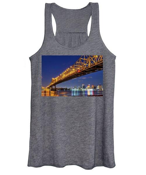 The Crescent City Bridge, New Orleans  Women's Tank Top