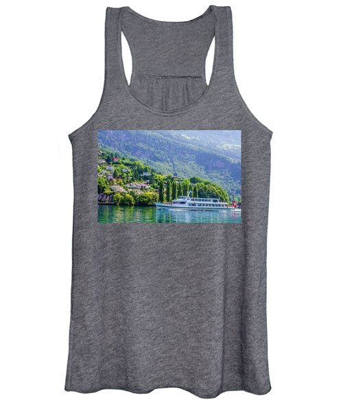 Cruising Lake Lucerne Women's Tank Top