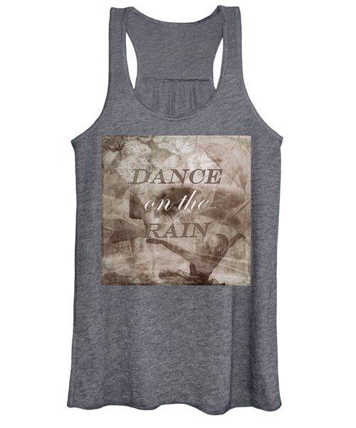 Dance On The Rain In Sepia Tones Women's Tank Top