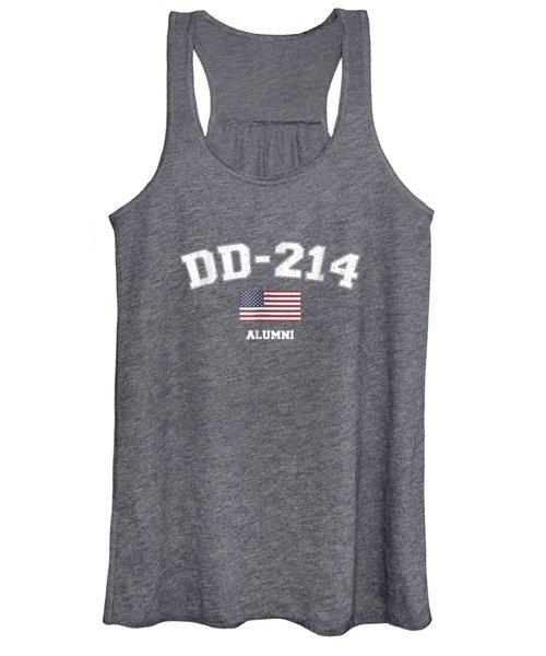 Dd-214 Us Armed Forces Alumni Usa Flag Vintage T-shirt Women's Tank Top