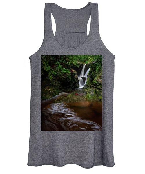 Duggers Creek Falls - Blue Ridge Parkway - North Carolina Women's Tank Top