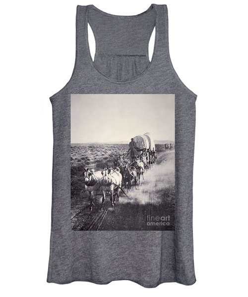 Eight Horse Heavy Freight Wagon Women's Tank Top