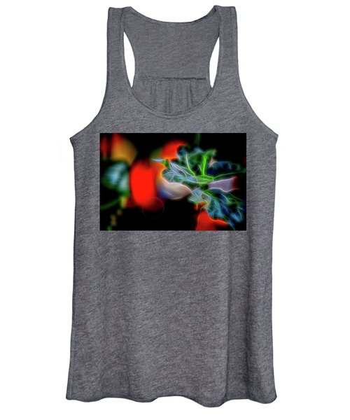 Electric Leaves Women's Tank Top