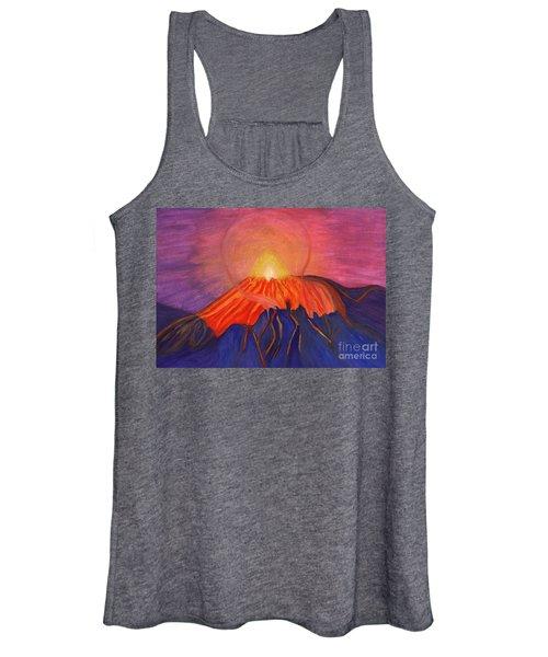 Glow Fading Volcano Women's Tank Top