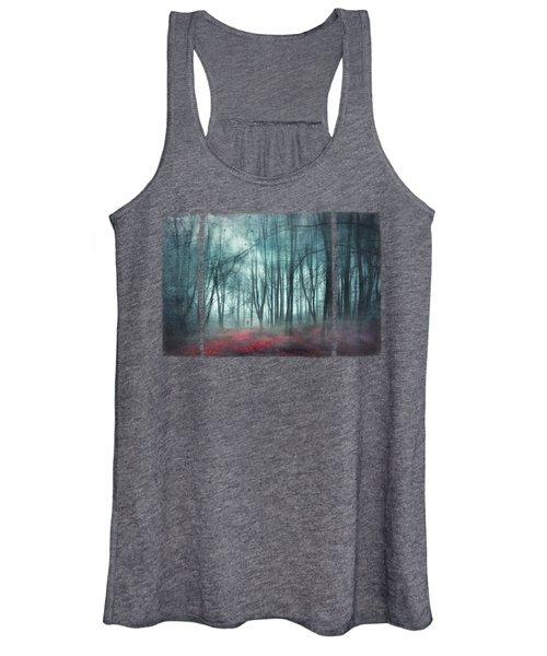 Escape Route - Misty Forest Scenery Women's Tank Top