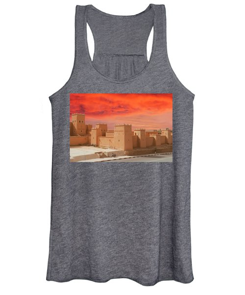 Exterior Buildings Of Kasbah Taourirt Women's Tank Top