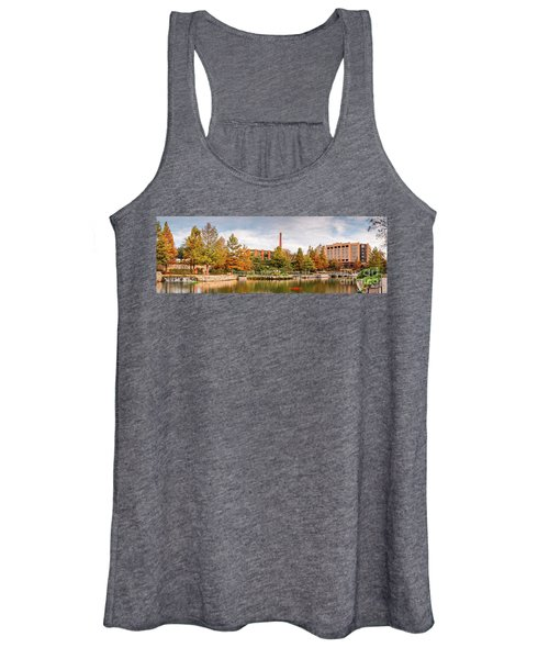 Fall Panorama Of Pearl Brewery, Hotel Emma, And San Antonio Riverwalk - Bexas County Texas Women's Tank Top