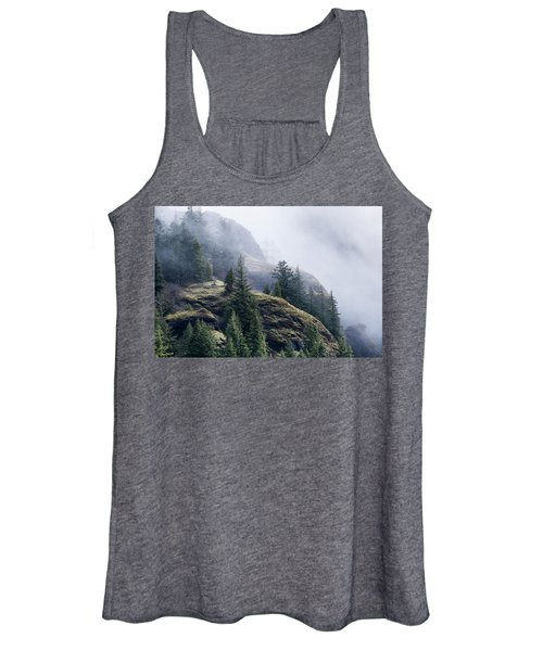 Foggy On Saddle Mountain Women's Tank Top