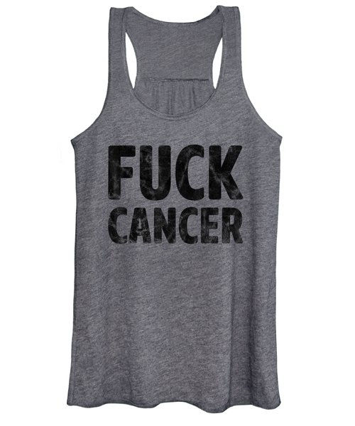 Fuck Cancer Breast Cancer Awareness Gift Distressed T-shirt Women's Tank Top