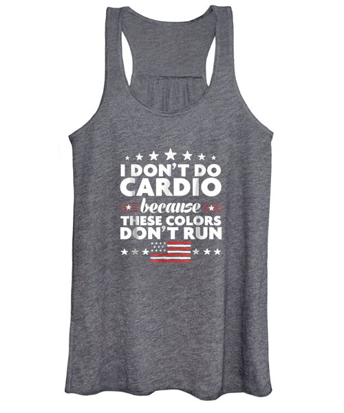 Funny 4th Of July Shirts-i Don't Do Cardio For Men Or Women Women's Tank Top
