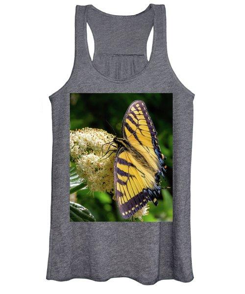 Fuzzy Butterfly Women's Tank Top