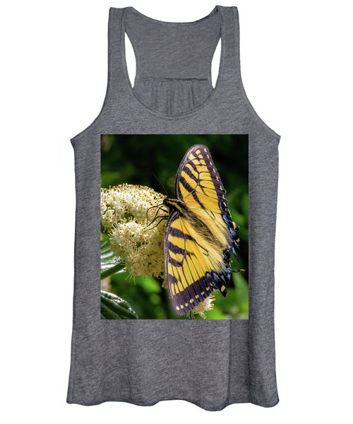 Fuzzy Butterfly Women's Tank Top