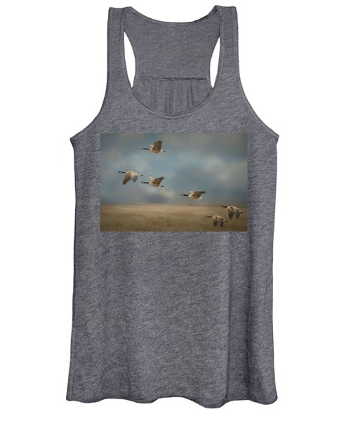 Geese, Coming In For A Landing Women's Tank Top