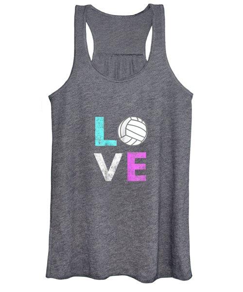 Girls Love Volleyball Best Fun Birthday Gift Tshirt Women's Tank Top