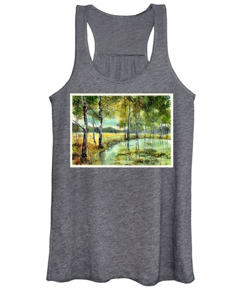 Gorgeous Water Lilies Bloom Women's Tank Top