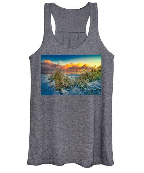 Grass And Snow Sunrise Women's Tank Top