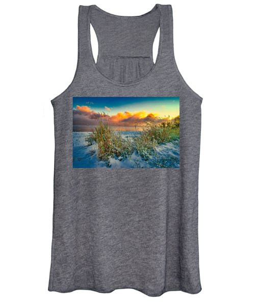 Grass And Snow Sunrise Women's Tank Top